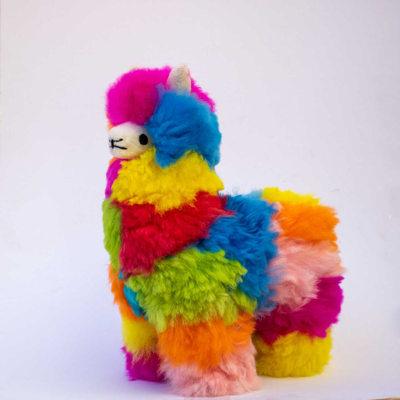 alpaca stuffed animal colorful