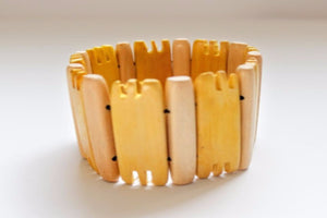 Wood Bracelet Yellow