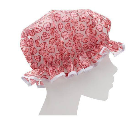 Candy Hearts Shower Cap - One size fits most - MerryBath