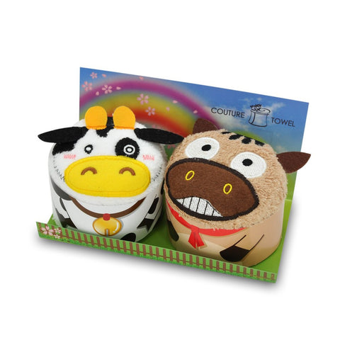 Accessories - COUTURE TOWEL <br> Funky Donkey And Moo Moo Cow Towel Set