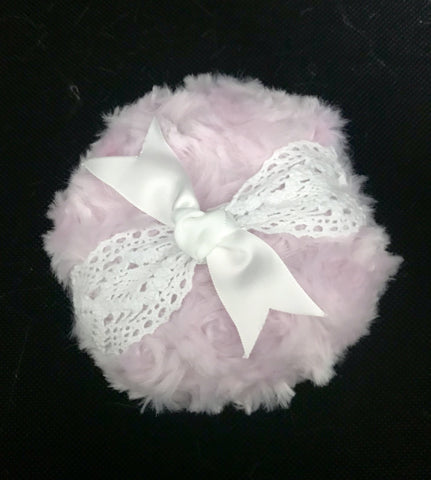 "Accessories - Powder Puff - Large 5"" - Pink Lace"