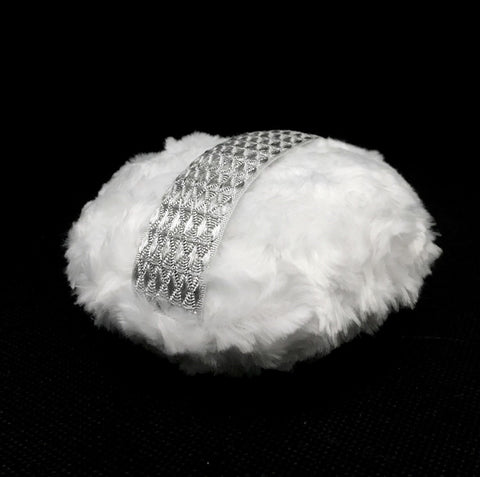"Accessories - Powder Puff - Large 5"" - Silver Glamour"