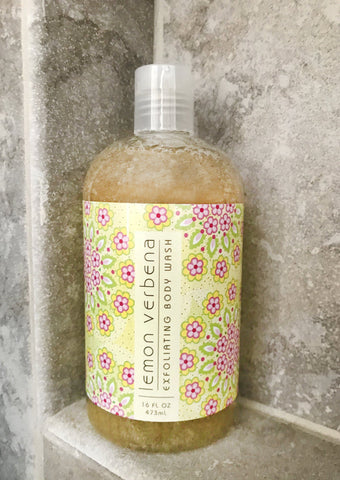 Shower Gels - GREENWICH BAY Exfoliating Body Wash - LEMON VERBENA