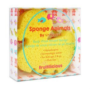 SPONGELLE Body Wash Infused Sponge - Duckie - MerryBath - 1