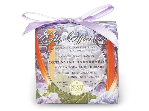 NESTI DANTE Hydrangea And Rhubarb Soap - Gli Officinali - MerryBath.com