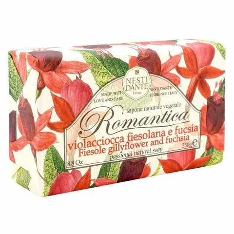 NESTI DANTE Fiesole Gillyflower and Fuchsia Bar Soap - MerryBath.com