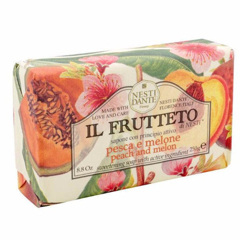 NESTI DANTE Il Frutteto - Peach and Melon Bar Soap - MerryBath.com