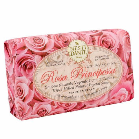 NESTI DANTE Rosa Principessa - Princess Rose Bar Soap - MerryBath