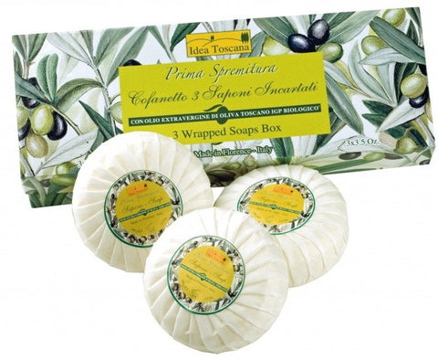 PRIMA SPREMITURA Olive Oil Wrapped Soap Gift Set - MerryBath