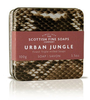 Soaps - SCOTTISH FINE SOAPS Urban Jungle Soap Tin - Snake Or Leopard