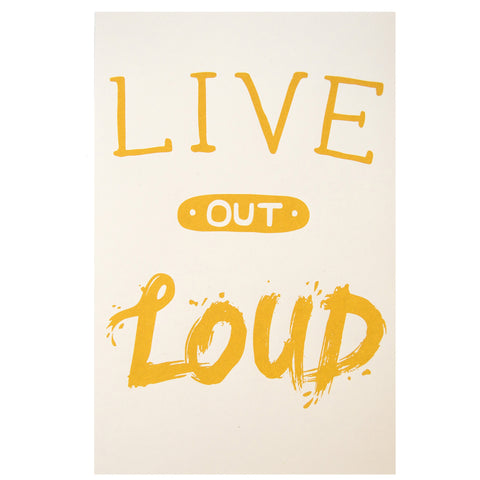 Live Out Loud Poster - House of Legends Threads