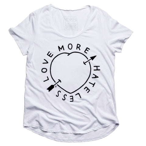 Love More, Hate Less Tee - House of Legends Threads  - 1