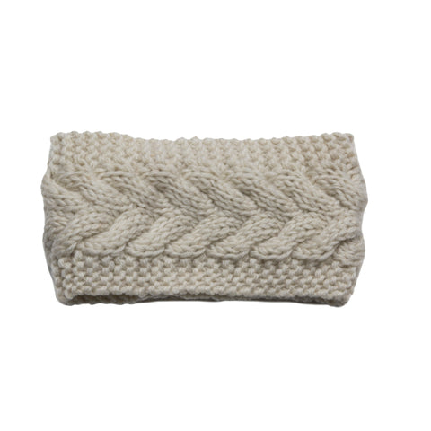 Oatmeal Wool Headband - House of Legends Threads  - 1
