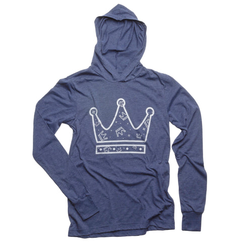 Pattern Crown Lightweight Hoodie - House of Legends Threads  - 1