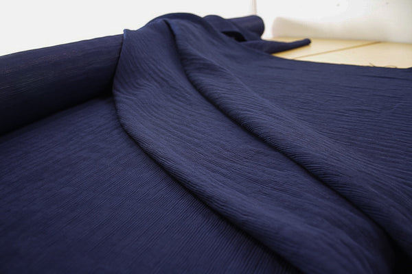 Pleated Parisienne Navy