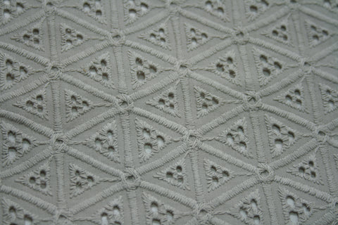 Cotton Broderie Anglaise - Silver