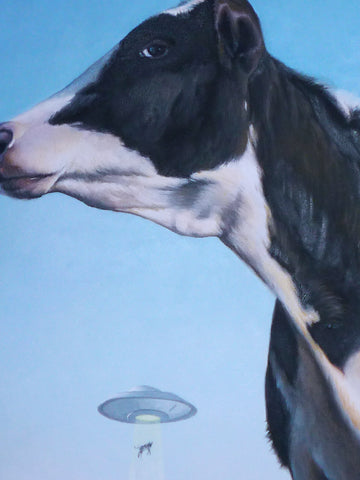Close Encounters Of The Moo Kind / Original Painting