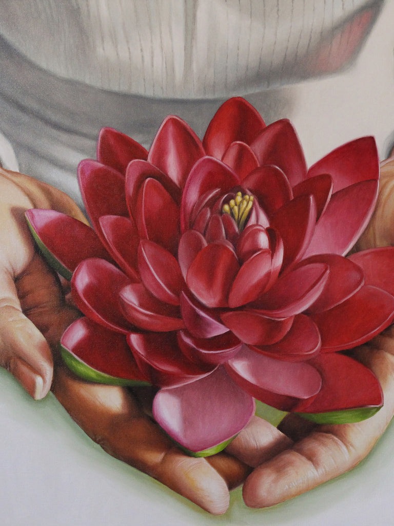 Lotus flower original painting lionel talaro lotus flower original painting izmirmasajfo