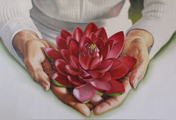Lotus Flower / Original Painting