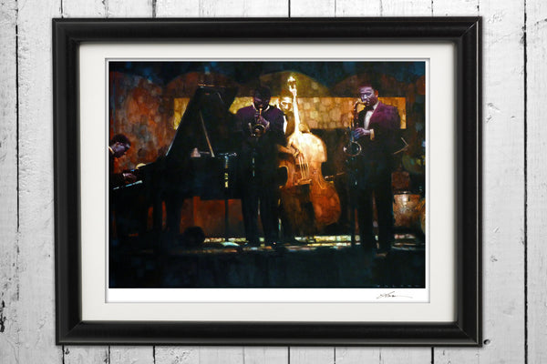 Miles Jam Session / Signed Print
