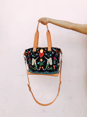 The Sacred Heart MINI Weekender - Black Multi