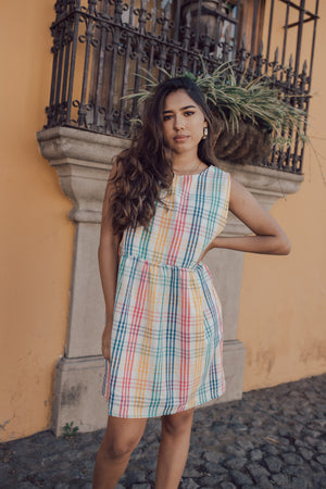 Dulce Dress - Rainbow Gingham