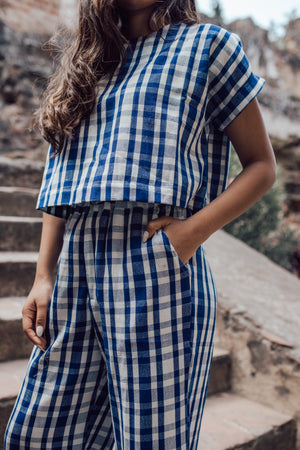 Easy Top - Cobalt Gingham