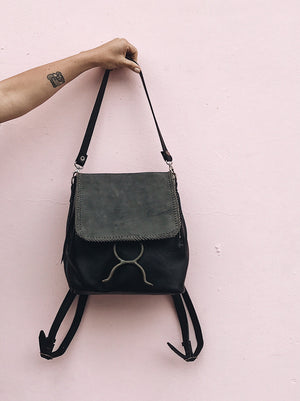 El Encanto Backpack/Shoulder Bag - Black