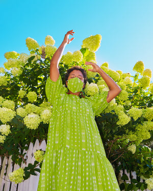 Tulum Dress - Lime Green
