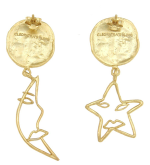 Astrology Earrings - 18k Gold