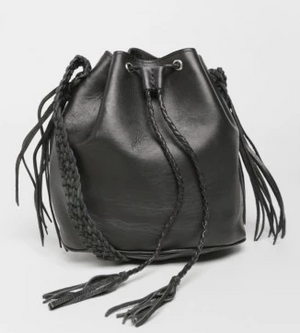 Quixote Small Bucket Bag - black