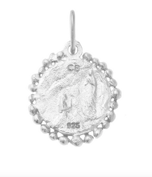Our Lady of Lourdes Charm Pendant - Sterling Silver