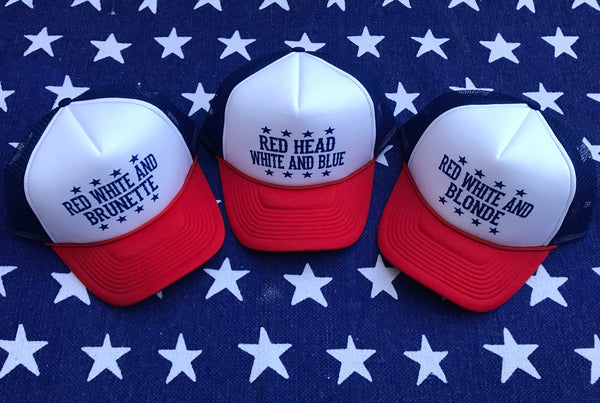 """BLONDE, BRUNETTE & RED HEAD"" Trucker Hat"