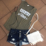 Country Vibes Women's Muscle Tank