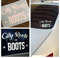 City Roots in Boots Logo Decal