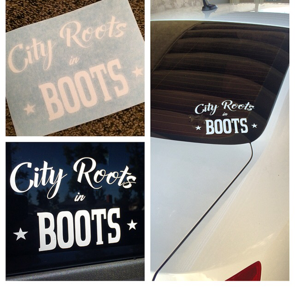 """City Roots in Boots"" Logo Decal"