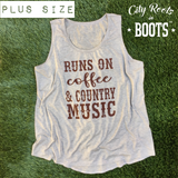Runs on Coffee & Country Music Women's Tank