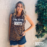 City Roots in Boots Animal Print Tank