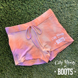 City Roots in Boots Women's Tie Dye Lounge Shorts