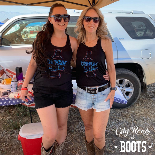 """Drinkin' Buddies"" Women's Black Tank"