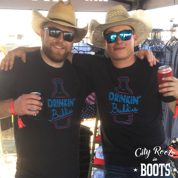 Drinkin' Buddies Black Tee