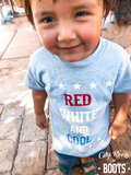 Red White and Cool Toddler-Youth Tee