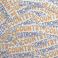 Country Strong Neon Sticker