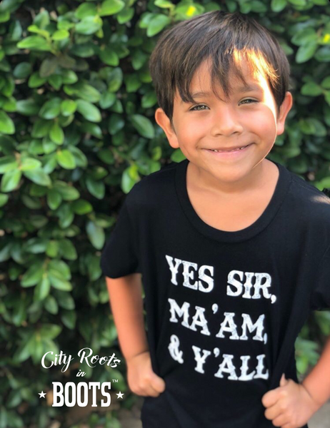 """Yes Sir Ma'am & Y'all"" Toddler/Youth Tee"