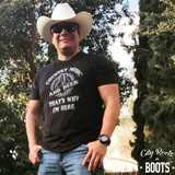 Country Music and Beer That's Why I'm Here Tee