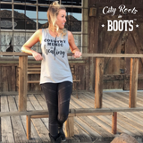 Country Music is Healing Women's Muscle Tank