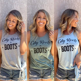 City Roots in Boots Side Tie Tank