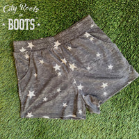 2 Tone Gray Star Women's Lounge Shorts