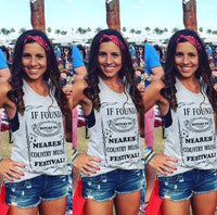 IF FOUND: Return to Nearest Country Music Festival Women's Tank