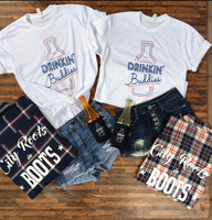 Drinkin' Buddies Red, White & Blue Unisex Tee